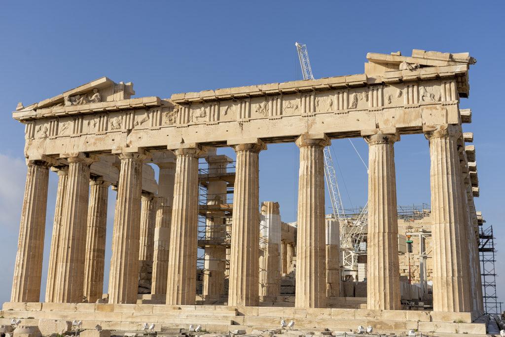 Fachada leste do Partenón