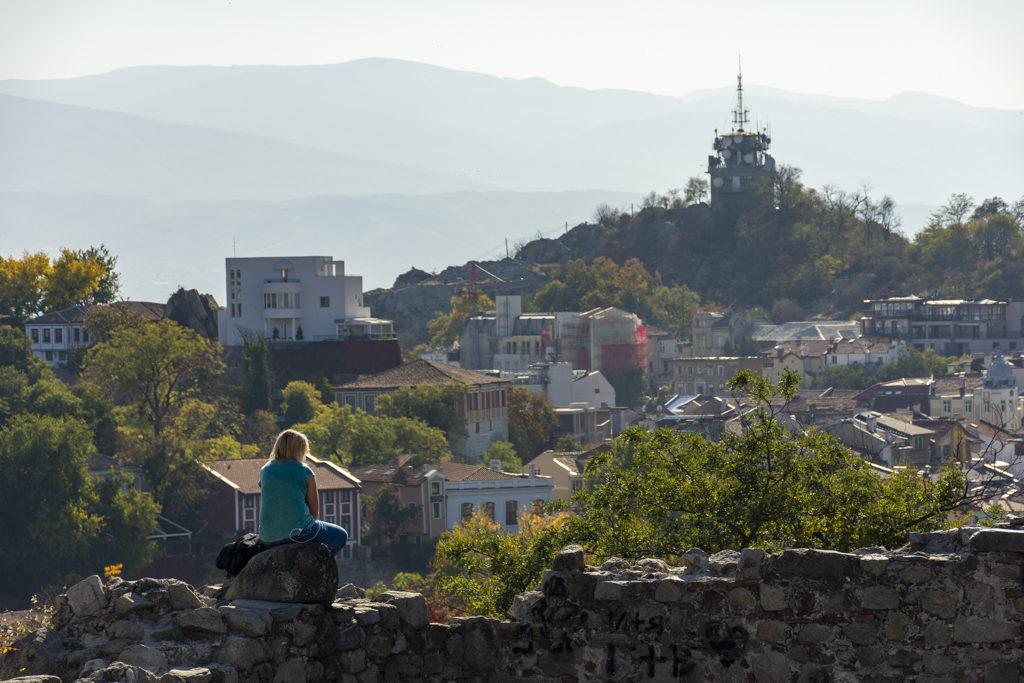 Vistas desde o outeiro da cidade vella de Plovdiv