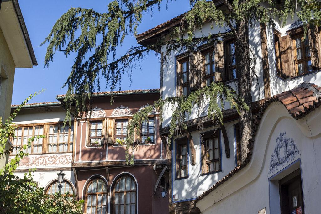 Edificios na cidade vella de Plovdiv